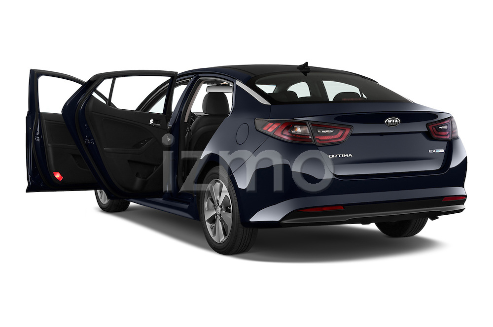 Car images of a 2014 KIA Optima Hybrid EX 4 Door Sedan Doors