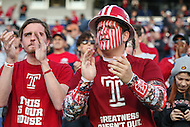 Annapolis, MD - December 27, 2016: Temple Owls fans during game between Temple and Wake Forest at  Navy-Marine Corps Memorial Stadium in Annapolis, MD.   (Photo by Elliott Brown/Media Images International)