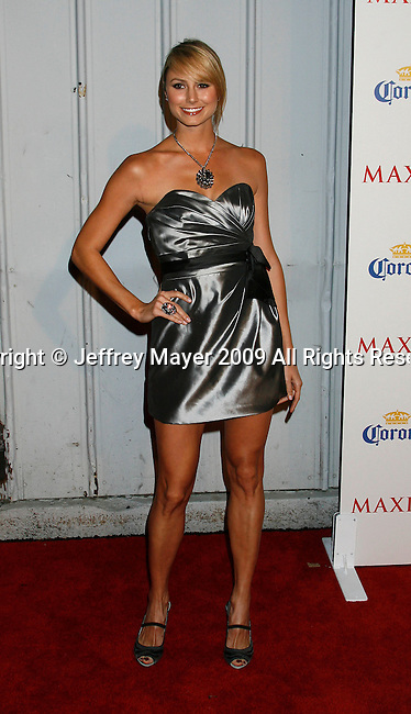 SANTA MONICA, CA. - May 13: Satcy Keibler arrives at the Maxim's 10th Annual Hot 100 Celebration at The Barker Hangar on May 13, 2009 in Santa Monica, California.