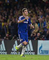 Oscar of Chelsea celebrates scoring to make it 2-0 during the UEFA Champions League match between Chelsea and Maccabi Tel Aviv at Stamford Bridge, London, England on 16 September 2015. Photo by Andy Rowland.