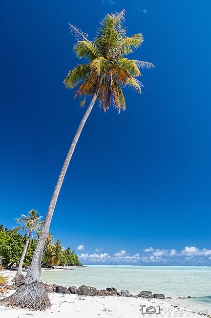 Tereia beach on Maupiti, French Polynesia