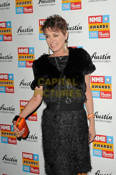 LONDON, ENGLAND - FEBRUARY 18: Lisa Stansfield attending the NME Awards at Brixton Academy on February 18 2015 in London, England.<br /> CAP/MAR<br /> &copy; Martin Harris/Capital Pictures