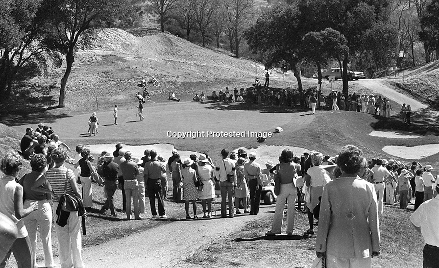 LPGA tournament at Round Hill Country Club...view of the 7th hole..(1971 photo/Ron Riesterer)