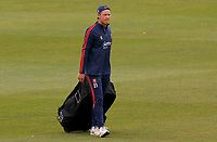 Tom Westley of Essex walks out to practice in the nets prior to Kent CCC vs Essex CCC, Friendly Match Cricket at The Spitfire Ground on 27th July 2020