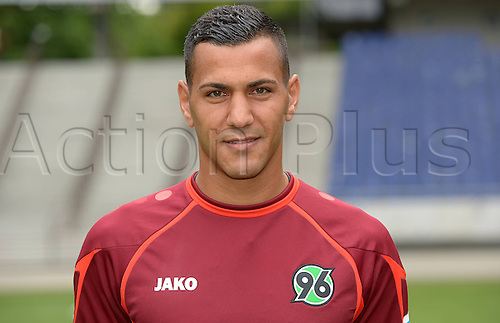 11.07.2013. Hannover, Germany.  Player Deniz Kadah of German Bundesliga club Hannover 96 during the official photocall for the season 2013-14 in the HDI Arena in Hannover (Lower Saxony).