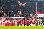 20.02.2018, Allianz Arena, Muenchen, GER, UEFA CL, FC Bayern Muenchen (GER) vs Besiktas Istanbul (TUR), Achtelfinale, im Bild Die Bayern feiern den Sieg<br /> <br /> Foto &copy; nordphoto / Straubmeier