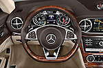 Car pictures of steering wheel view of a 2017 Mercedes Benz SL-Class SL450 2 Door Convertible Steering Wheel
