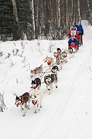 Karen Ramstead w/Iditarider on Trail 2005 Iditarod Ceremonial Start near Campbell Airstrip Alaska SC