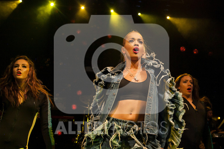 Rita Ora sings during a Sony promotional concert at Joy Eslava club in Madrid, Spain. July 03, 2013. (ALTERPHOTOS/Victor Blanco)