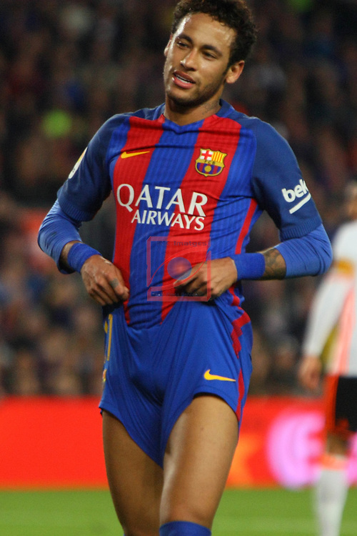 League Santander 2016/2017. Game: 28.<br /> FC Barcelona vs Valencia CF: 4-2.<br /> Neymar Jr.
