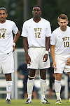 12 September 2014: Pitt's Stephane Pierre. The University of North Carolina Tar Heels hosted the Pittsburgh University Panthers at Fetzer Field in Chapel Hill, NC in a 2014 NCAA Division I Men's Soccer match. North Carolina won the game 3-0.