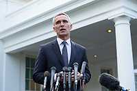Secretary General of NATO Speaks to the Media at the White House