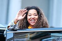 NEW YORK, NY, 14.02.2017 - MING-LEE - <br /> Ming Lee Simmons &eacute; vista deixando uma loja de cosmeticos recem inaugurada em Manhattan na cidade de New York nesta ter&ccedil;a-feira, 14. (Foto: William Volcov/Brazil Photo Press)