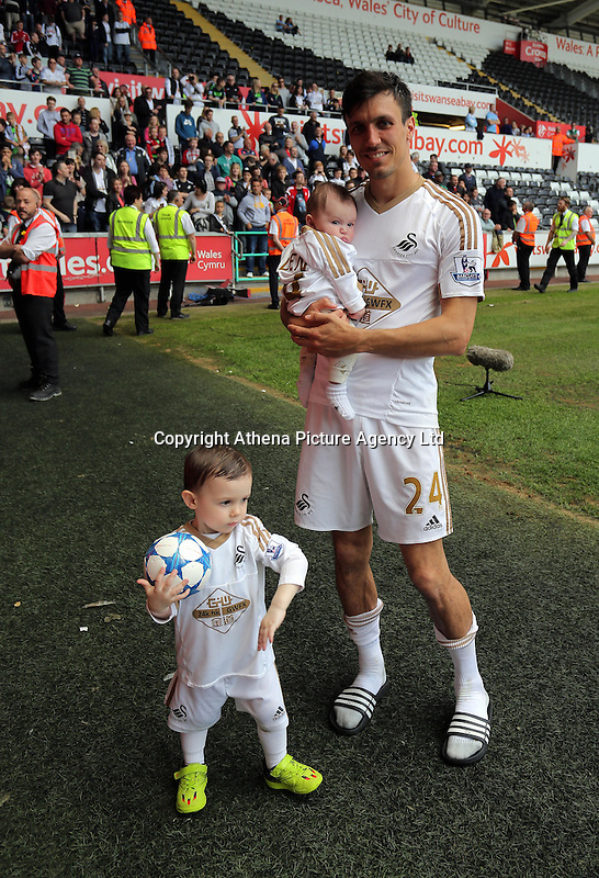 Jack Cork of Swansea City after the Swansea City FC v Manchester City Premier League game at the Liberty Stadium, Swansea, Wales, UK, Sunday 15 May 2016