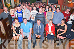 Stephen O'Connor and Shane Dwyer, both Keel, Castlemaine,pictured with their families and friends as they held their going away party in the Anvil Bar Boolteens on Saturday night before heading for Melbourne, Australia on Sunday.........