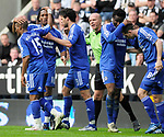 Chelsea's Florent Malouda(far left) celebrates his goal with his team mates. during the Premier League match at the St James' Park Stadium, Newcastle. Picture date 5th May 2008. Picture credit should read: Richard Lee/Sportimage