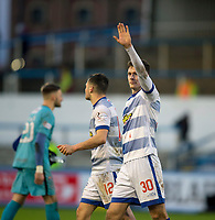 1st February 2020; Cappielow Park, Greenock, Inverclyde, Scotland; Scottish Championship Football, Greenock Morton versus Dundee Football Club; Jack Baird of Greenock Morton waves to the fans at the end of the match