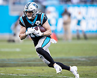 CHARLOTTE, NC - DECEMBER 15: Chris Hogan #15 of the Carolina Panthers runs with the ball during a game between Seattle Seahawks and Carolina Panthers at Bank of America Stadium on December 15, 2019 in Charlotte, North Carolina.