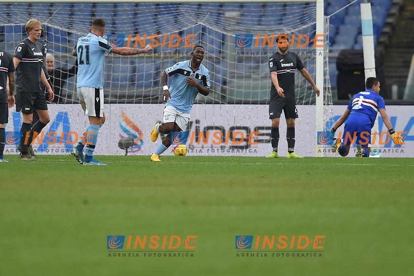 Bastos of Lazio celebrates after scoring the 4-0  goal<br /> Roma 18-01-2020 Stadio Olimpico <br /> Football Serie A 2019/2020 <br /> SS Lazio - Sampdoria<br /> Foto Antonietta Baldassarre / Insidefoto