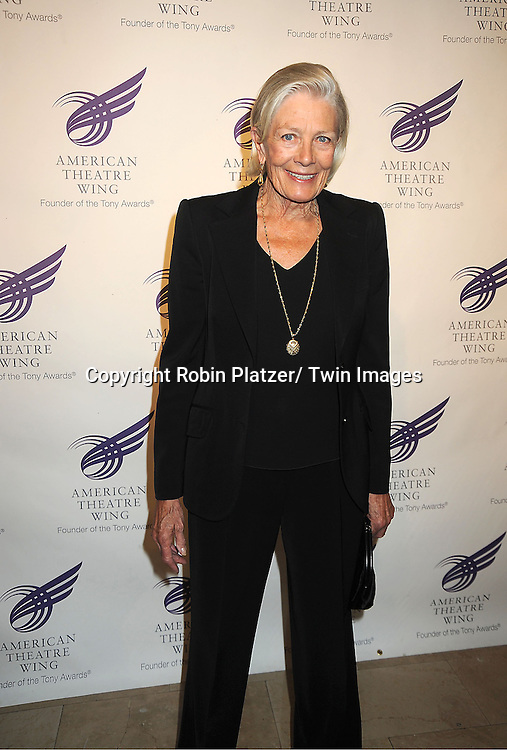 Vanessa Redgrave  attends the American Theatre Wing's Annual Gala honoring the Redgrave Family on September 24, 2012 at The Plaza Hotel in New York City.