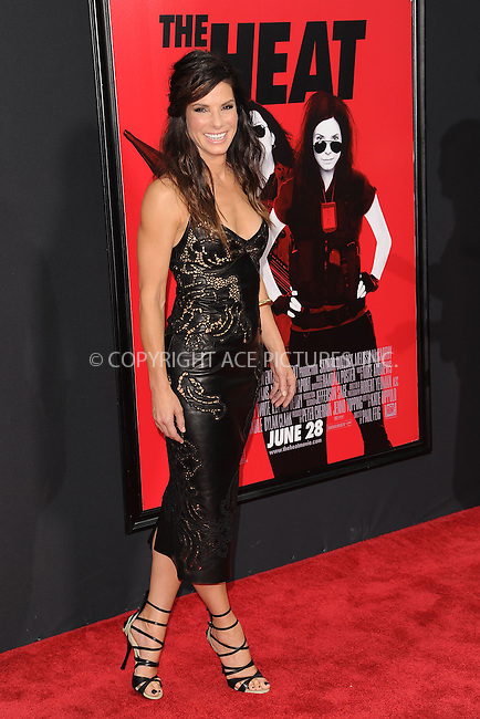 WWW.ACEPIXS.COM<br /> June 23, 2013...New York City <br /> <br /> Sandra Bullock attending 'The Heat' New York Premiere at the Ziegfeld Theatre on June 23, 2013 in New York City.<br /> <br /> Please byline: Kristin Callahan... ACE<br /> Ace Pictures, Inc: ..tel: (212) 243 8787 or (646) 769 0430..e-mail: info@acepixs.com..web: http://www.acepixs.com