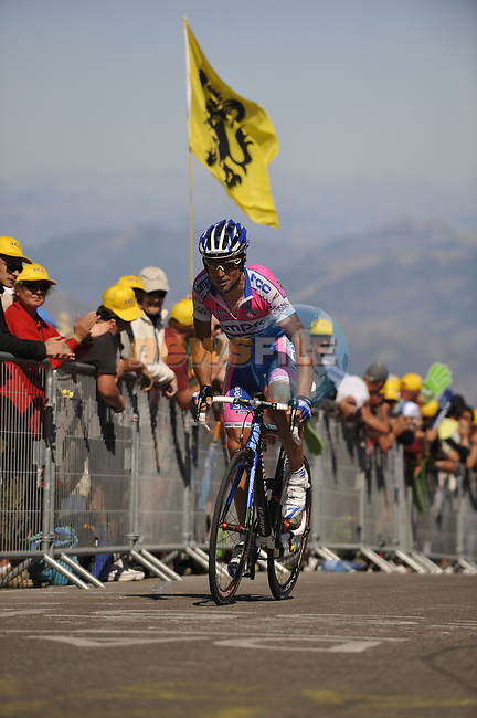 Daniele Righi (ITA) Lampre-NGC close to the finish of Mont Ventoux during Stage19 of the Tour de France 2009 running 167km from Montelimar to Mont Ventoux, France. 25th July 2009 (Photo by Eoin Clarke/NEWSFILE)