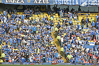 BOGOTÁ -COLOMBIA, 29-03-2014. Aspecto de los hinchas de Millonarios durante el encuentro entre Millonarios y Patriotas FC por la fecha 13 de la Liga Postobón  I 2014 jugado en el estadio Nemesio Camacho el Campín de la ciudad de Bogotá./ Aspect of the fans of Millonarios during the match between Millonarios and Patriotas FC for the 13th date of the Postobon  League I 2014 played at Nemesio Camacho El Campin stadium in Bogotá city. Photo: VizzorImage/ Gabriel Aponte / Staff