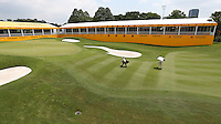 View of the 18th during the preview days of the 2014 Maybank Malaysian Open at the Kuala Lumpur Golf & Country Club, Kuala Lumpur, Malaysia. Picture:  David Lloyd / www.golffile.ie