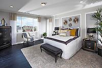 Contemporary Master Bedroom Stock Photo