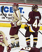 Alex Carpenter (BC - 5) -  - The visiting University of Minnesota Duluth Bulldogs defeated the Boston College Eagles 3-2 on Thursday, October 25, 2012, at Kelley Rink in Conte Forum in Chestnut Hill, Massachusetts.
