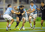 September 29, 2018. Jose Amalfitani, Buenos Aires, Argentina. Richie Mo'unga breaks argentine defense during second half of the match.