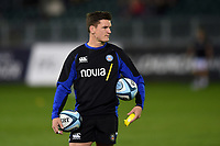 Freddie Burns of Bath Rugby looks on during the pre-match warm-up. Gallagher Premiership match, between Bath Rugby and Exeter Chiefs on October 5, 2018 at the Recreation Ground in Bath, England. Photo by: Patrick Khachfe / Onside Images