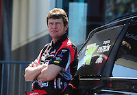 Apr. 13, 2012; Concord, NC, USA: NHRA top fuel dragster driver David Grubnic during qualifying for the Four Wide Nationals at zMax Dragway. Mandatory Credit: Mark J. Rebilas-