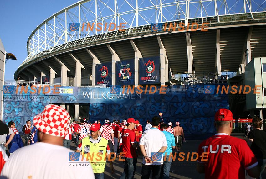 MG Vienna ( Austria) 20/06/2008  - Euro 2008 / Croazia-Turchia/ Foto Andrea Staccioli / Insidefoto<br /> Nella foto: Stadio Vienna cartello benvenuti