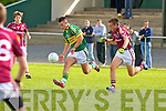 Kerry's Jeff O'Donoghue and Galway's Owen Walsh...