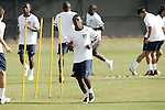 12 March 2008: Freddy Adu (USA) and the rest of the United States team have a light workout. The United States U-23 Men's National Team practiced at the Tampa Bay Buccaneers training facility in Tampa, FL on an off day in the 2008 CONCACAF Men's Olympic Qualifying Tournament.