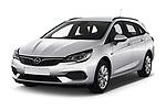 2020 Opel Astra-Sport-Tourer Edition 5 Door Wagon Angular Front automotive stock photos of front three quarter view