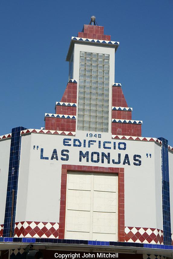 Art Deco style building in Merida, Yucatan, Mexico.
