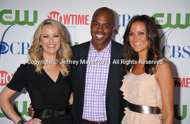 BEVERLY HILLS, CA - AUGUST 03: Brooke Anderson, Kevin Frazier and Chistina McLarty arrive at the TCA Party for CBS, The CW and Showtime held at The Pagoda on August 3, 2011 in Beverly Hills, California.