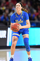 College Park, MD - March 25, 2019: UCLA Bruins guard Lindsey Corsaro (4) with the ball during second round game of NCAAW Tournament between UCLA and Maryland at Xfinity Center in College Park, MD. UCLA advanced to the Sweet 16 defeating Maryland 85-80.(Photo by Phil Peters/Media Images International)