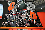 """Mar 26, 2010 - Tokyo, Japan - KTM introduced two electrically driven sports motorcycles under the title """"Freeride"""" for offroad and supermoto riders during the 37th Tokyo Motorcycle Show at Tokyo Big Sight on March 26, 2010. Those 'zero emission motorcycle' will go on sale on 2011, according to the Austrian company. (Photo Laurent Benchana/Nippon News)"""