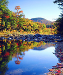 USA, New Hampshire, A waterfall in the White Mountains