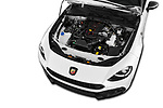 Car stock 2017 Abarth 124 Spider Base 2 Door Convertible engine high angle detail view