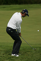 Bradley Dredge chips in on the 7th hole during the final round of the Irish Open on 20th of May 2007 at the Adare Manor Hotel & Golf Resort, Co. Limerick, Ireland. (Photo by Eoin Clarke/NEWSFILE)...