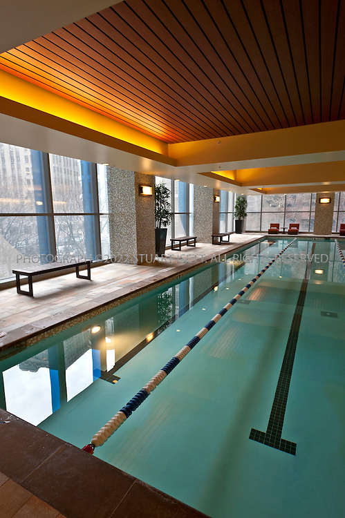 2/22/2011--Seattle, WA, USA..The two-year-old 346- room Hyatt at Olive 8 (1635 Eight Avenue, 206-695-1234, www.olive8.com) has hands-down the best fitness center and pool (shown here)  of any downtown hotel, plus sleekly appointed guest rooms with city views...©2011 Stuart Isett. All rights reserved.