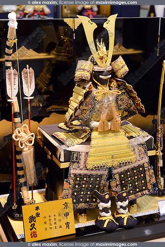 Samurai armour souvenir in a store in Tokyo, Japan
