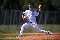 Eastern Michigan Eagles relief pitcher Kyle Huckaby (20) delivers a pitch during a game against the Dartmouth Big Green on February 25, 2017 at North Charlotte Regional Park in Port Charlotte, Florida.  Dartmouth defeated Eastern Michigan 8-4.  (Mike Janes/Four Seam Images)