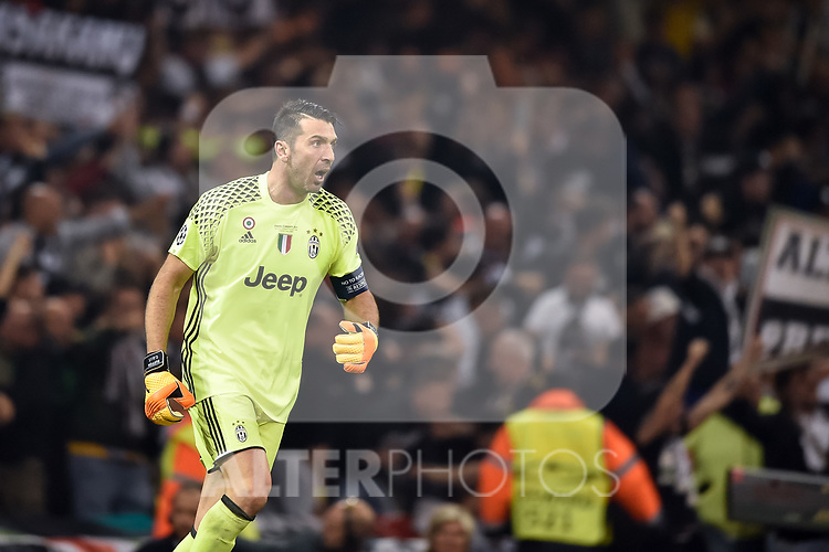 Gianluigi Buffon of Juventus during the UEFA Champions League Final match between Real Madrid and Juventus at the National Stadium of Wales, Cardiff, Wales on 3 June 2017. Photo by Giuseppe Maffia.<br /> <br /> Giuseppe Maffia/UK Sports Pics Ltd/Alterphotos