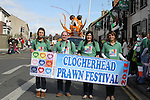 Clogherhead Prawn Festival Float at the 2011 St.Patrick's Day Parade in Drogheda...(Photo credit should read Jenny Matthews/www.newsfile.ie)....This Picture has been sent you under the conditions enclosed by:.Newsfile Ltd..The Studio,.Millmount Abbey,.Drogheda,.Co Meath..Ireland..Tel: +353(0)41-9871240.Fax: +353(0)41-9871260.GSM: +353(0)86-2500958.email: pictures@newsfile.ie.www.newsfile.ie.