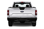 Straight rear view of a 2018 Ford F-150 XLT 4 Door Pick Up stock images
